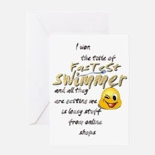 creature fastest swimmer 002 Greeting Card