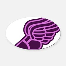 pink-and-purple-3000 Oval Car Magnet