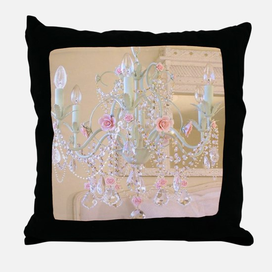 Shabby Chic Chandelier Throw Pillow