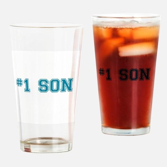 #1 Son Drinking Glass