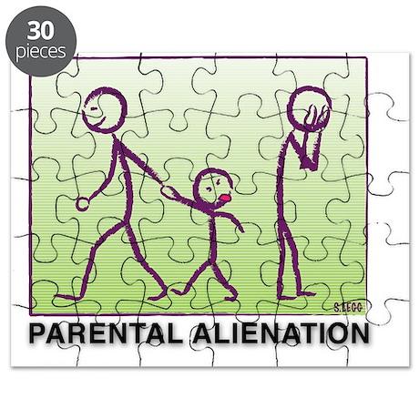 Parental Alienation-plain logo Puzzle