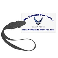 US Air Force with words Fr  Luggage Tag