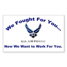 US Air Force with words Fr  Decal