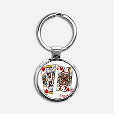 card shark Round Keychain