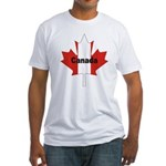 Canada Flag Maple Leaf Fitted T-Shirt