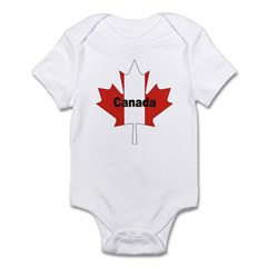 Canada Flag Maple Leaf Infant Bodysuit