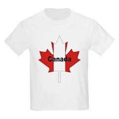 Canada Flag Maple Leaf Kids T-Shirt
