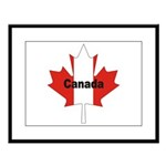 Canada Flag Maple Leaf Large Framed Print
