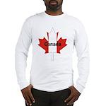 Canada Flag Maple Leaf Long Sleeve T-Shirt