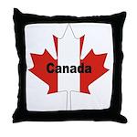 Canada Flag Maple Leaf Throw Pillow