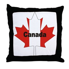 Canada Flag Maple Leaf Throw Pillow