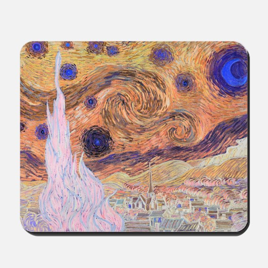 Starry Day (Starry Night - Inverted Colo Mousepad