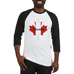 Canada Flag Maple Leaf Baseball Jersey