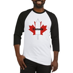 Canada Flag Maple Leaf Baseball Jersey