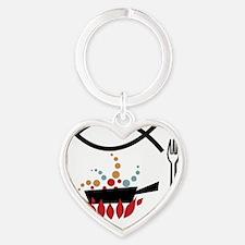 round ornament Heart Keychain