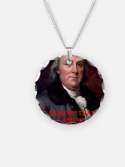 Ben Franklin Wine XXV Necklace