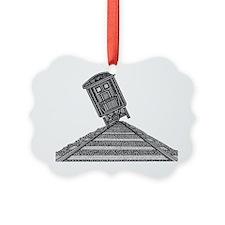 Tipping Train2-shirt Ornament