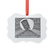 Tipping Train2 Ornament