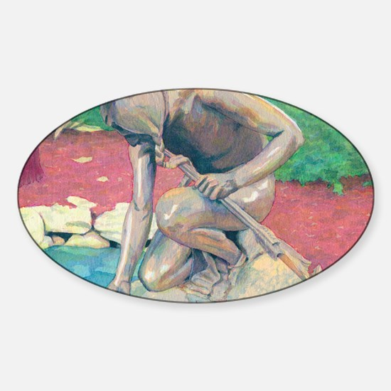indian@4-25x5-5 Sticker (Oval)
