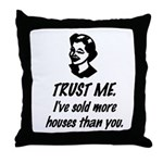 Trust Me Female Throw Pillow