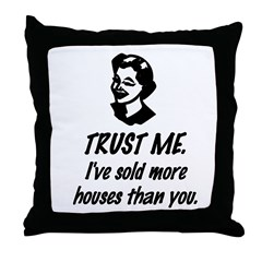 Trust Me Female Throw Pillow