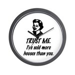 Trust Me Female Wall Clock
