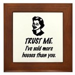Trust Me Female Framed Tile