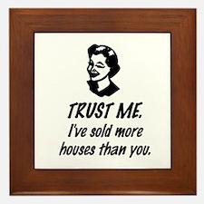 Trust Me Female Framed Tile