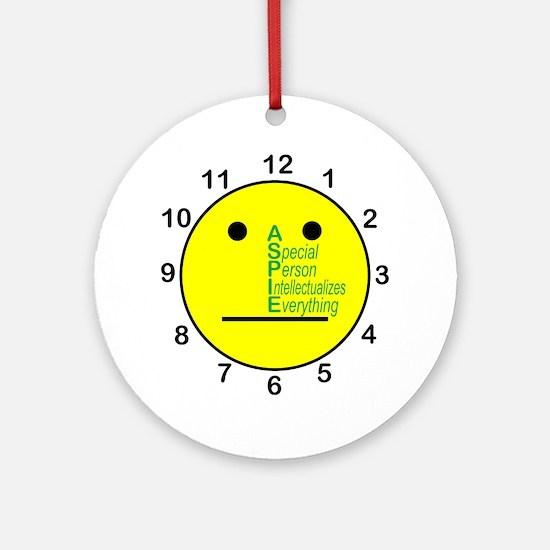 ASPIE_acronym_center_face_clock Round Ornament