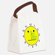 ASPIE_acronym_center_face_clock Canvas Lunch Bag