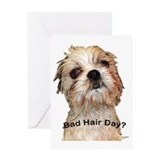 Bad Hair Day fin copy Greeting Card