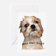 Bad Hair Day fin copy Greeting Card