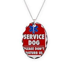 Service Dog Please Dont Distur Necklace