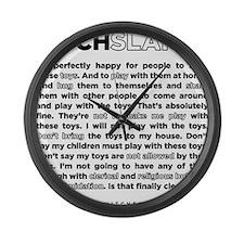 03backwhite Large Wall Clock