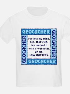 Blue Geocacher Lost Mind T-Shirt