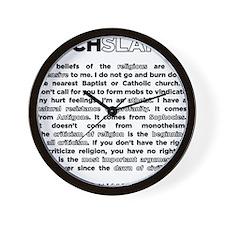 09backwhite Wall Clock
