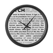 17backwhite Large Wall Clock