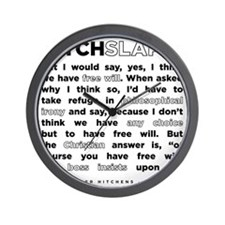 16backwhite Wall Clock