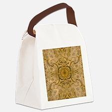 damask vintage Canvas Lunch Bag