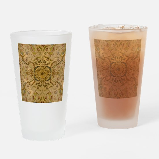 damask vintage Drinking Glass