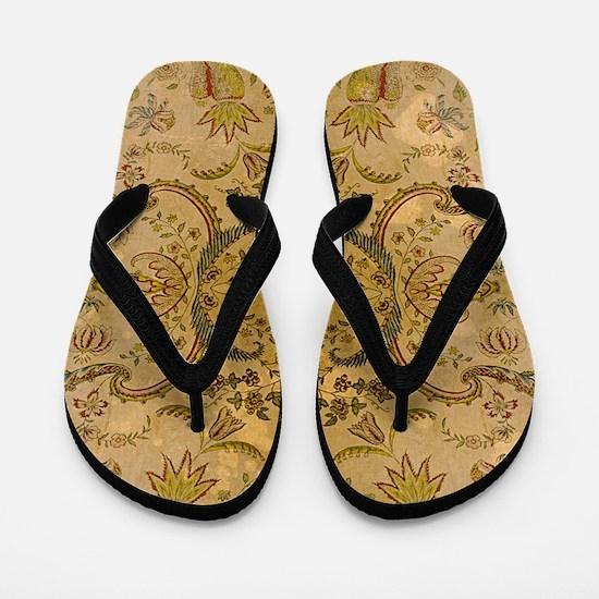damask vintage Flip Flops