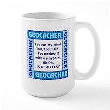 Blue Geocacher Lost Mind Ceramic Mugs
