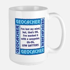 Blue Geocacher Lost Mind Ceramic Mugs