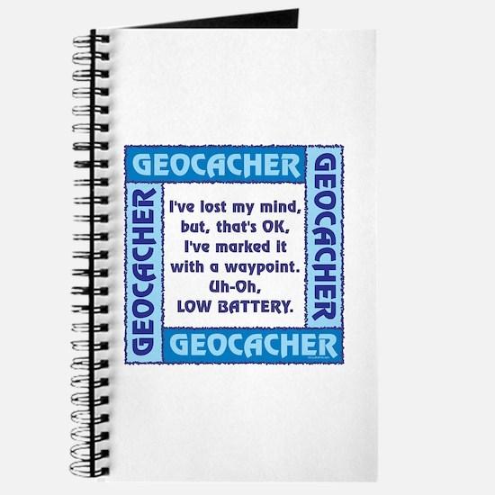 Blue Geocacher Lost Mind Journal