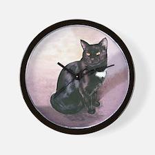 Black Kitty Wall Clock