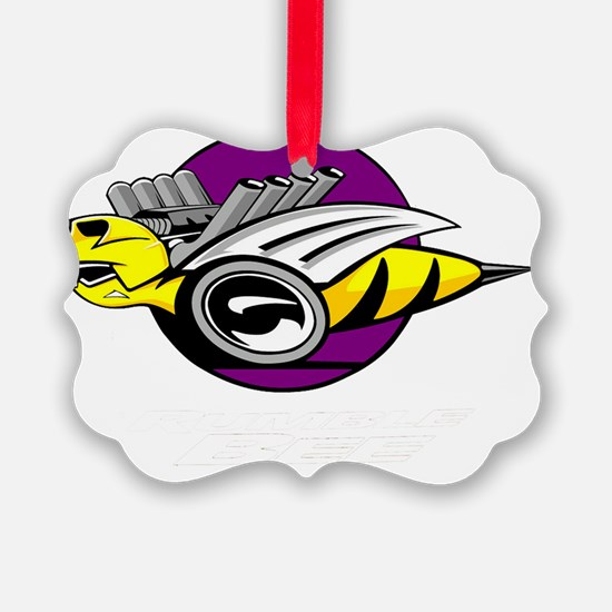 Rumble Bee wht png Ornament