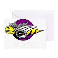 Rumble Bee wht png Greeting Card