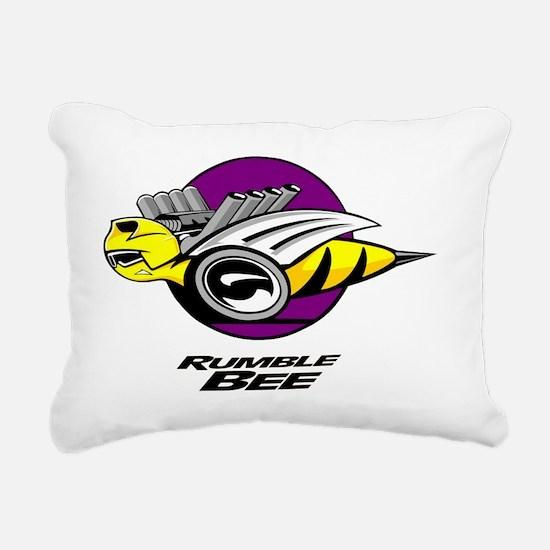 Rumble Bee blk png Rectangular Canvas Pillow