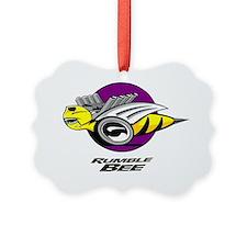 Rumble Bee blk png Ornament