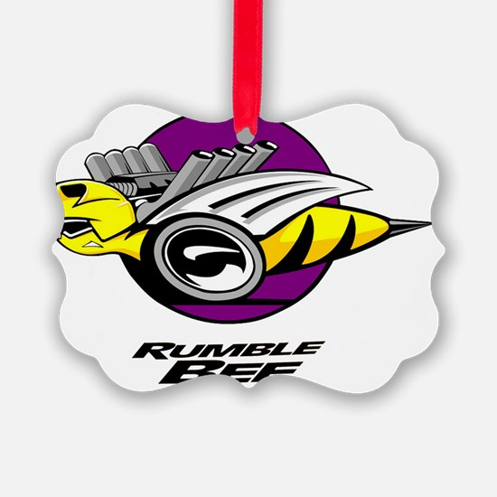 Rumble Bee blk png Ornament